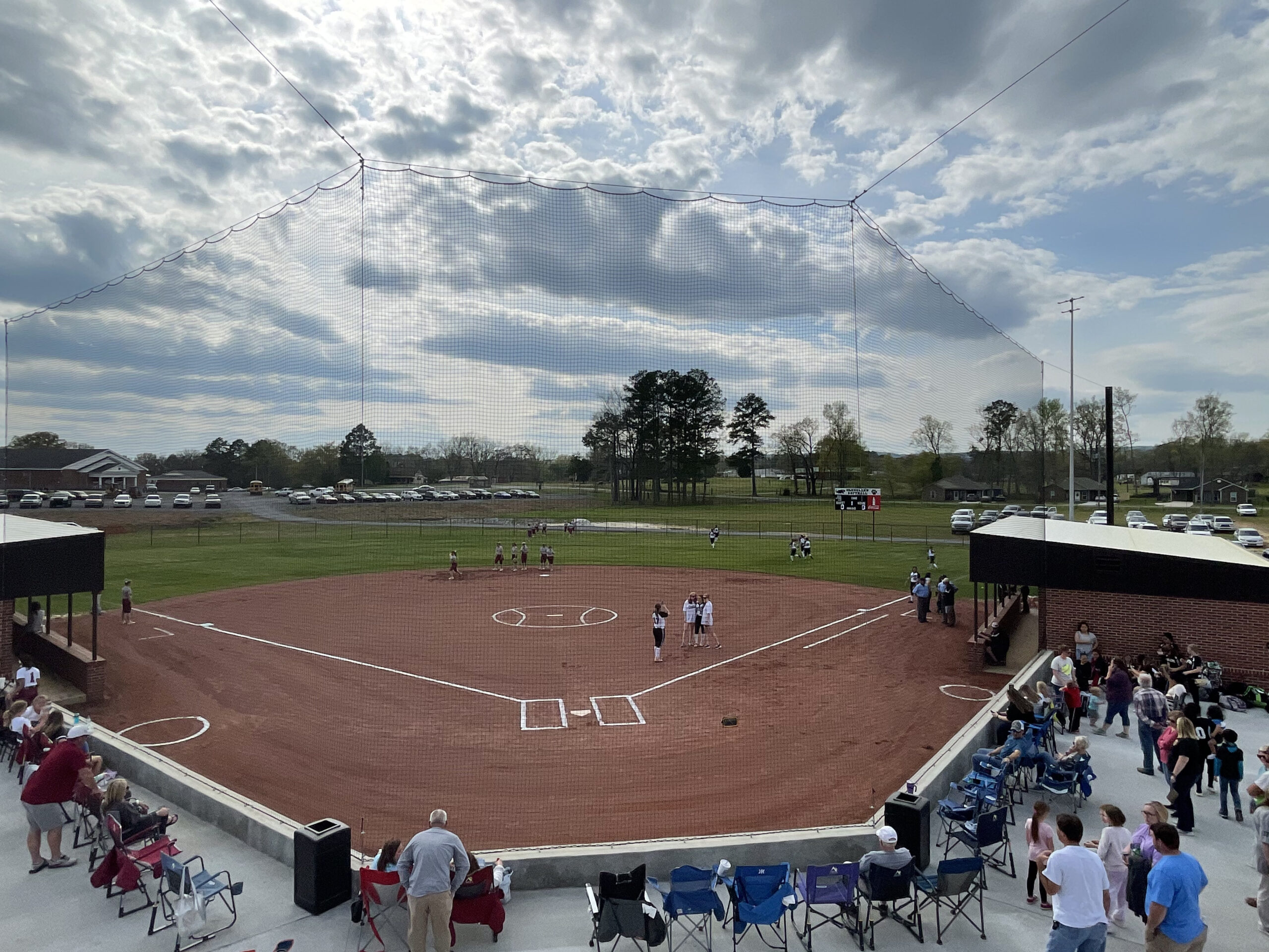 Cleveland's Lady Panther softball team got their first win on the new softball field Monday.