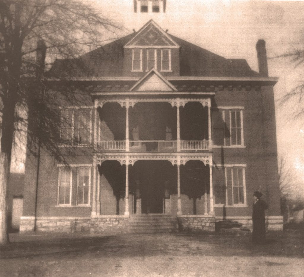 Blountsville Courthouse about 1888 before it burned in1895. -courtesy of Blount County Memorial Museum