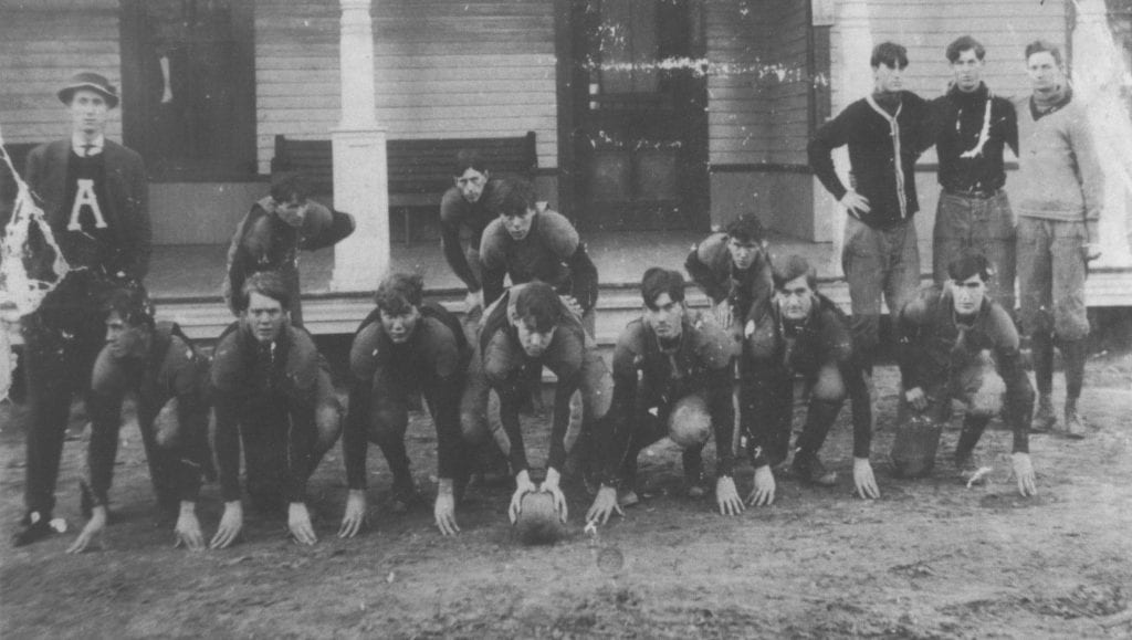 Blountsville College football team ca. 1900 -courtesy of Blount County Memorial Museum
