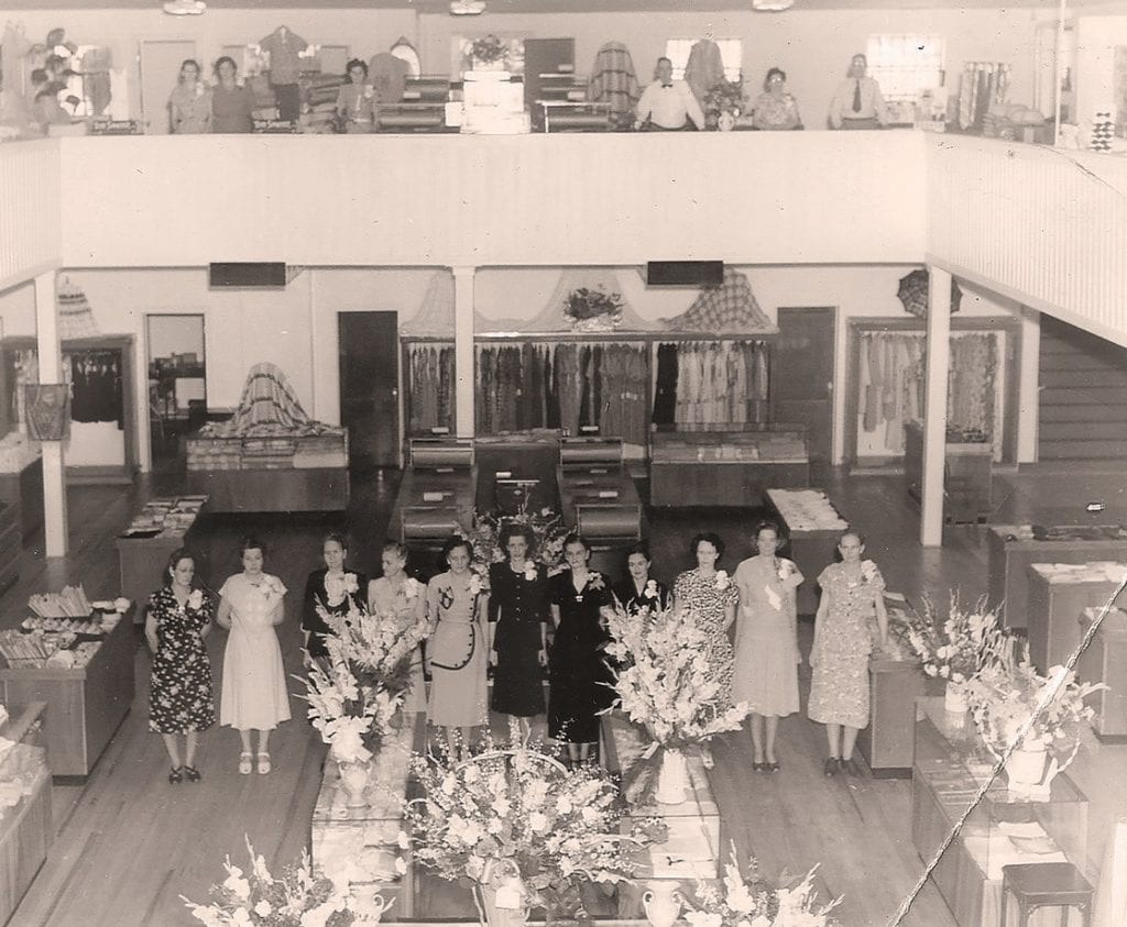 The interior of Watson's Hammer's and Cosa Bella -courtesy Sybil Patterson via Hammer's Department Store