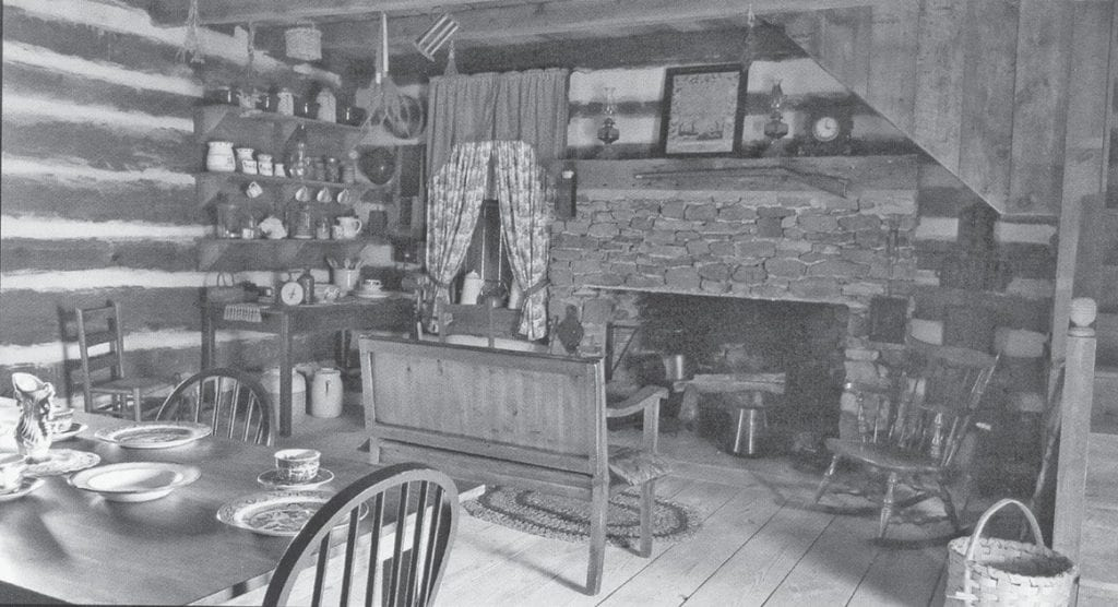 Interior of the Isham Chamblee cabin -A Simple Life, Spring 2018