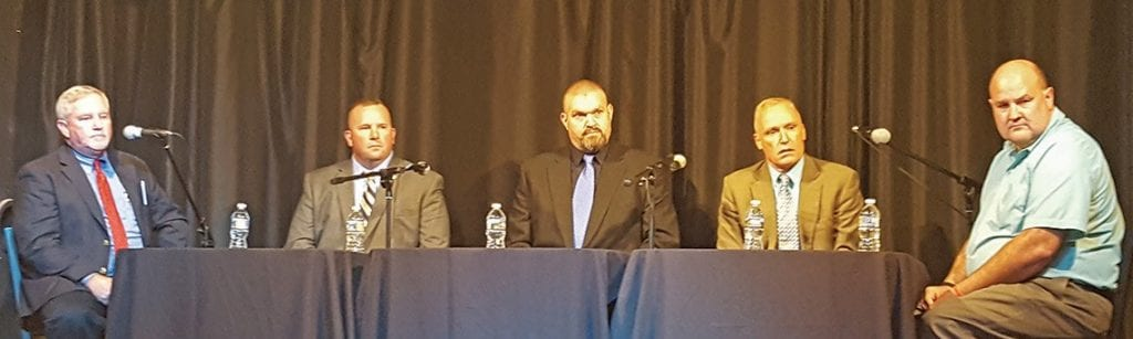 From left: James Chapman, Mark Moon, Charlie Turner, Kevin Price, and Ron Chastain
