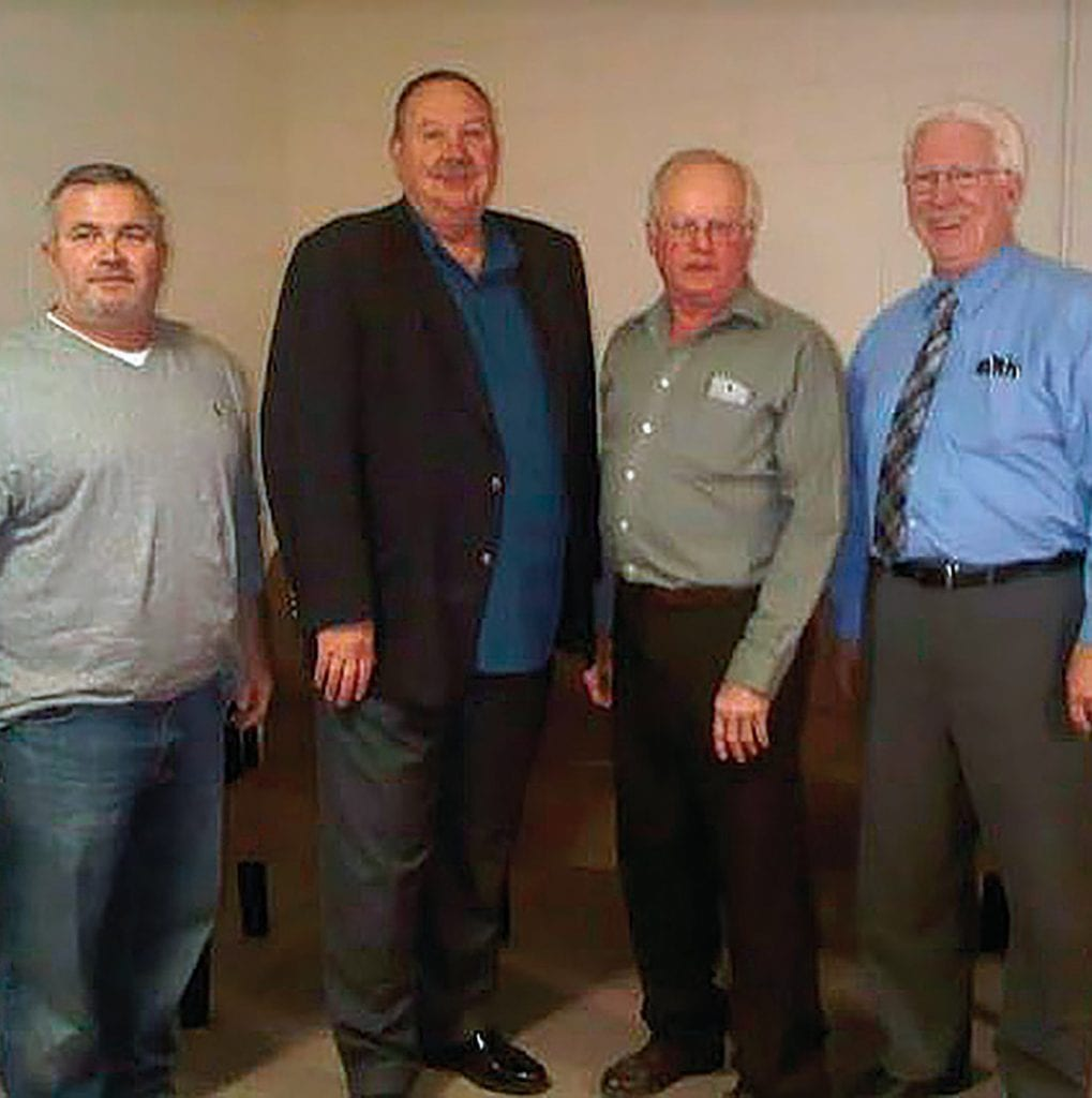 From left: Blount County Commission District 1 candidates Allen Armstrong and James Foster, and Blount County Board of Education District 1 candidates Rod Dabbs and Ken Benton