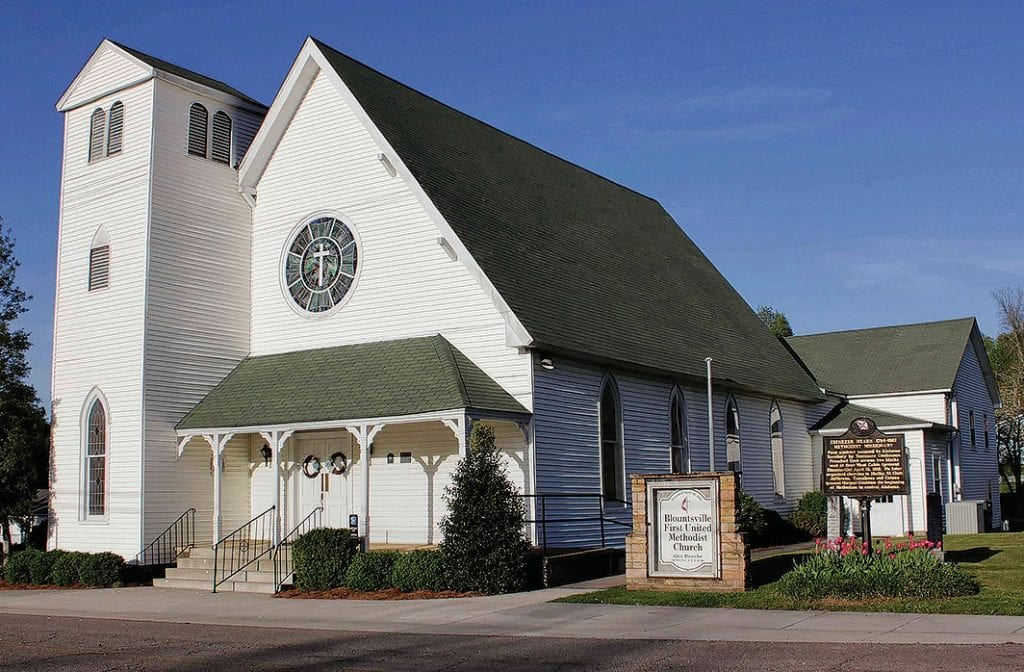 Blountsville United Methodist church today, as it prepares to celebrate 200 years.