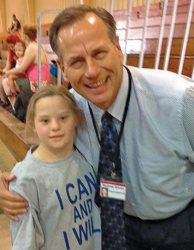 Special Olympian Gracey Calvert and Blount County Schools Superintendent Rodney Green -Facebook