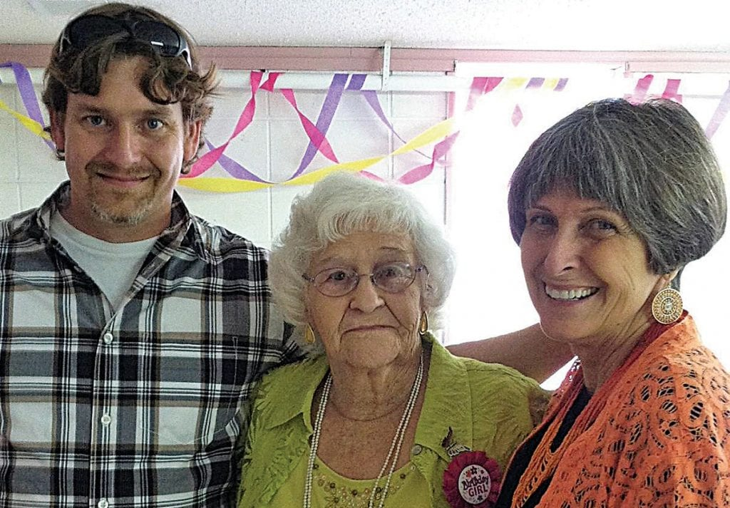 Three generations. From left: Bart Rainey, Martha Grigsby, and Frances Darnell Whited -courtesy Darnell Whited