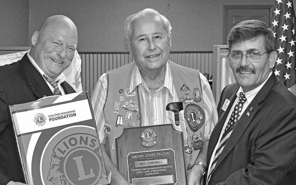 From left: Sosebee, Lion Neil Campbell, and Seybold.