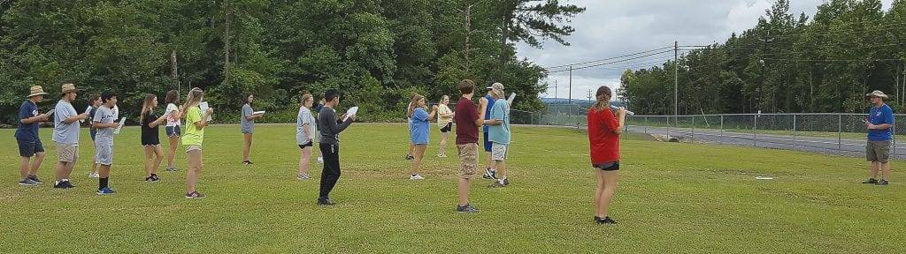 Appalachian High School Marching Band (pictured during a recent practice) and Southeastern High School Band will both debut Thursday, Aug. 23, 7 p.m., at James E. Carr Stadium. Appalachian will perform during halftime; Southeastern will perform in the stands.