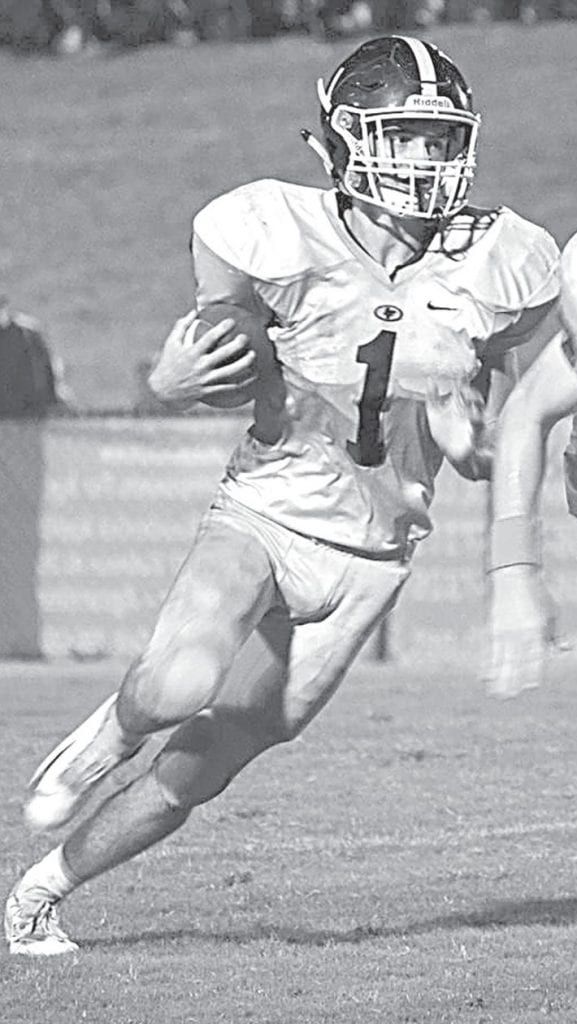 Ben Oden contributed 69 rushing yards and four tackles during the Holly Pond loss Friday. -Hannah Payne   Sydney Smith