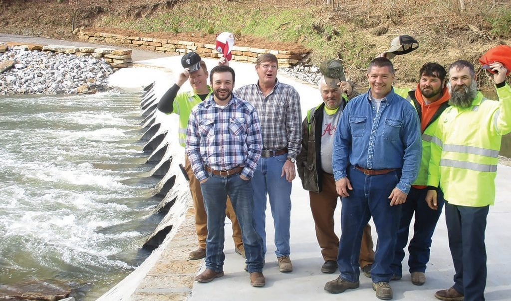 District 4 road crew, from left: Eddie Tawbush, Washburn, foreman Chris Chambless, Charles Smith, Chuck Hill, Colby McAnnally, and Josh Beard. by Ron Gholson