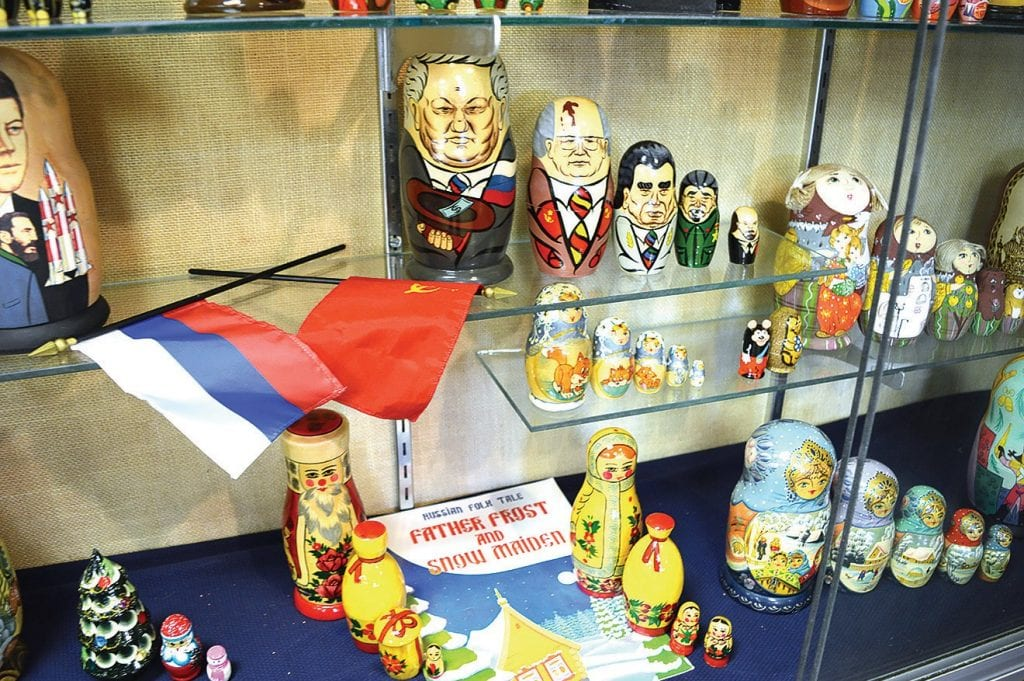 Matryoshka (Russian nesting dolls) on loan from Oneonta's Kati Murphree at the Blount County Memorial Museum.