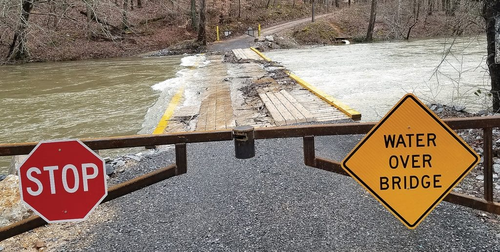 House Road off County Highway 15 was closed for a time last week due to excessive rain and flooding.