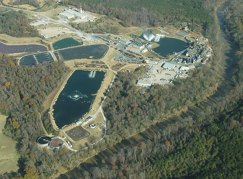 An aerial view of the Tyson rendering plant in Hanceville. -Facebook | Black Warrior Riverkeeper