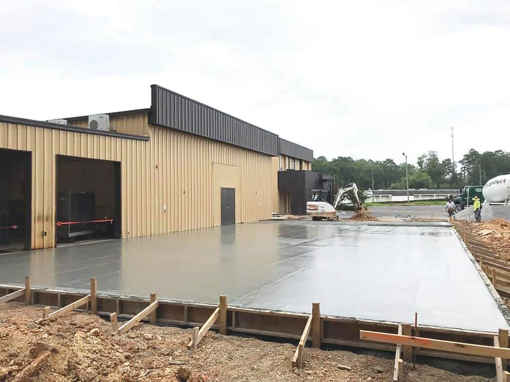 The concrete slab is poured for the new training shop at the Wallace State Oneonta campus which is slated to be complete by the end of the month. -Facebook | Wallace State