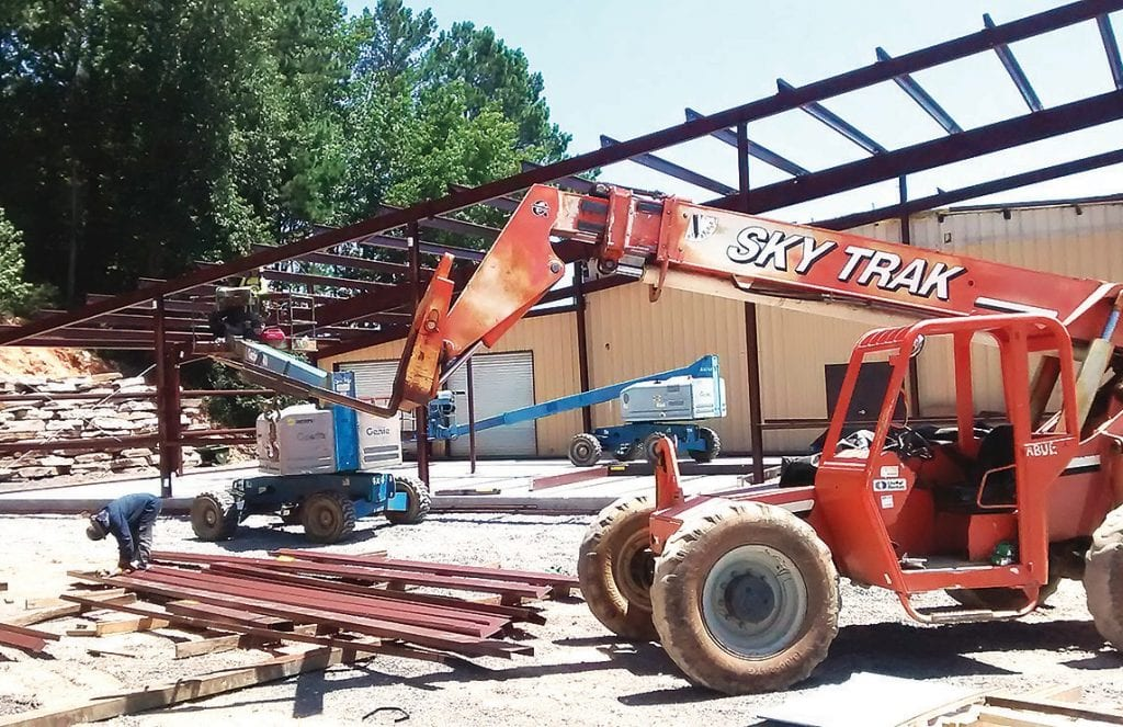 Last week Oneonta City Manager Ed Lowe reported to the council that 'steel is going up at Wallace State' and that phase of the project should continue over the next few weeks. The new addition will become a training shop expected to be completed by in August.