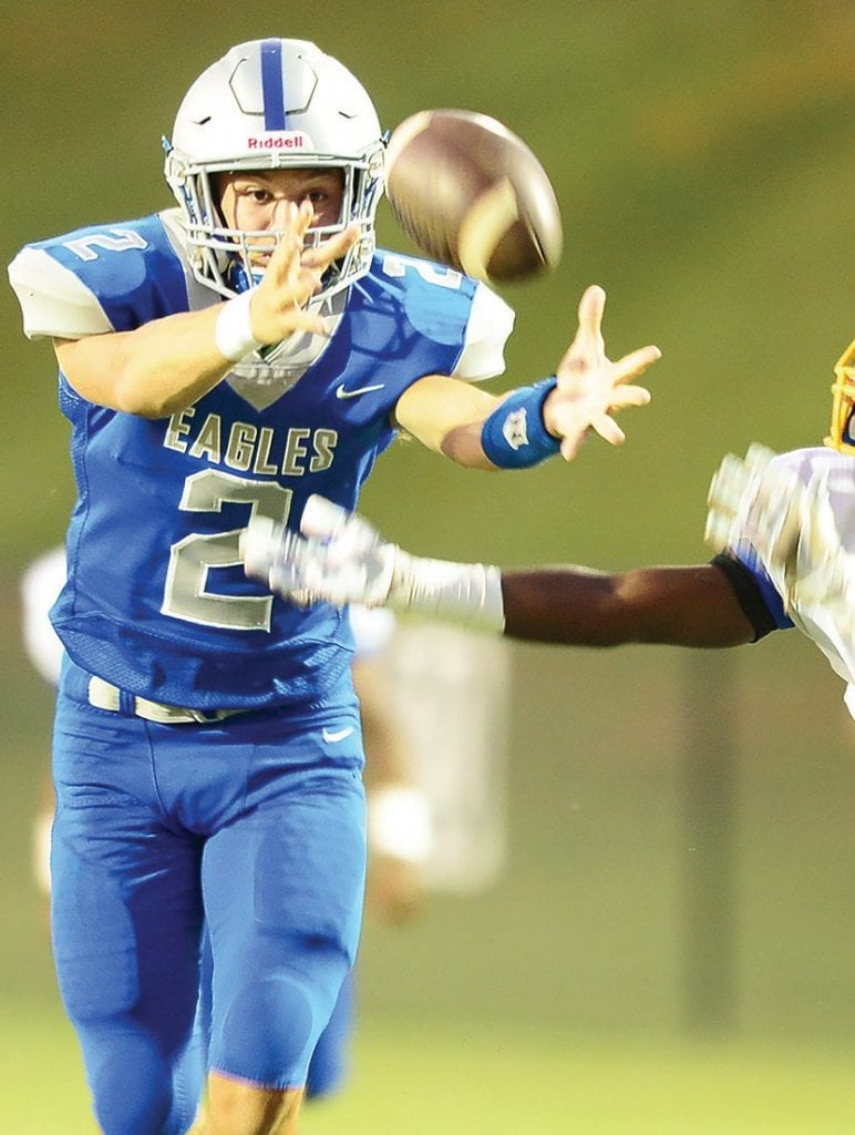Noah Harris (2) had 203 total yards and one touchdown on 11 completions and five rushes. -www.southernexposurephotos.com