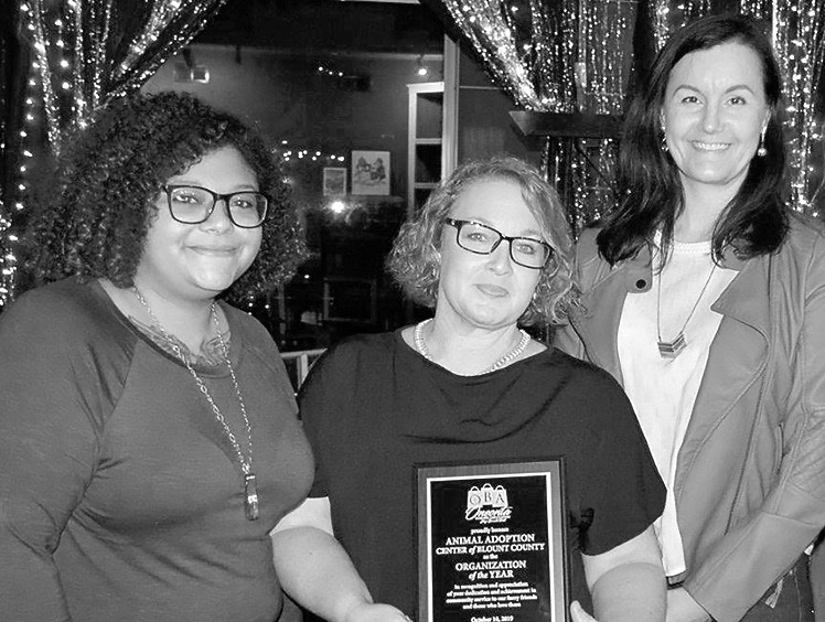 OBA Organization of the Year - Animal Adoption Center of Blount County (Karen Gilham, Kayle Jackson, and Crystal Adams)