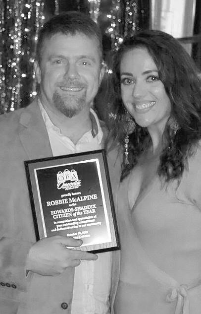 OBA Edwards-Shaddix Citizen of the Year - Robbie McAlpine -photos courtesy Oneonta Business Association