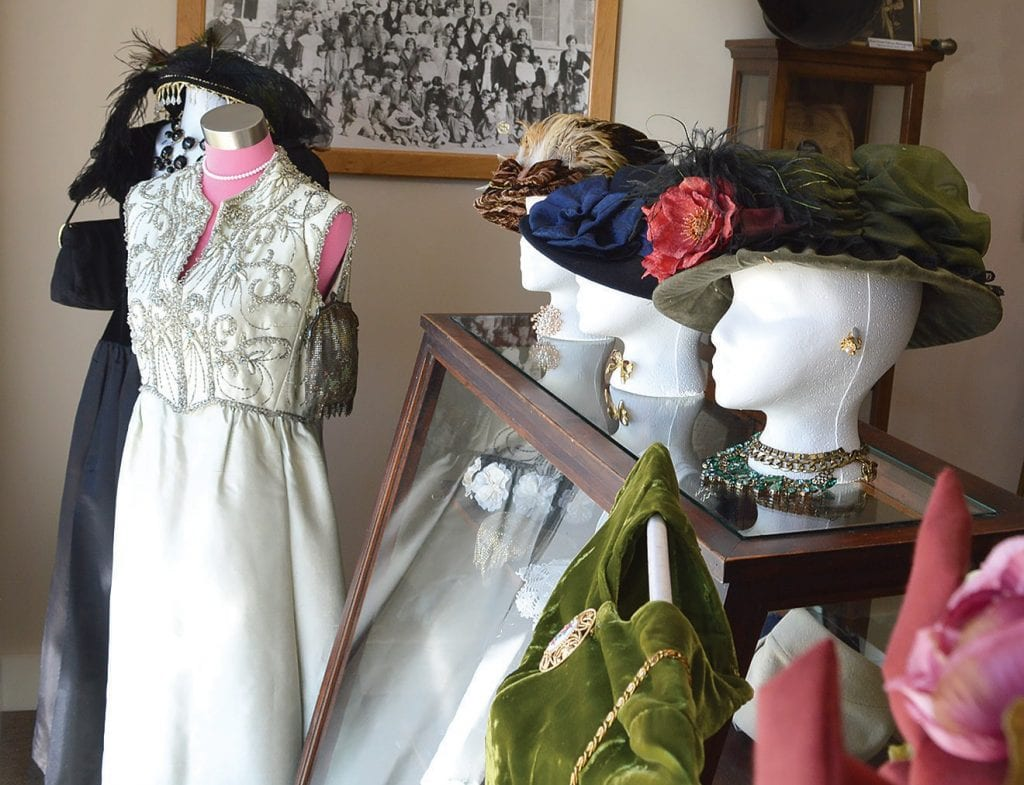 Blount County Memorial Museum currently has a display of vintage women's dresses and accessories.