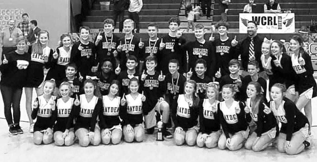 The Hayden junior high boys defeated Locust Fork 43-31 to win the championship. -Blount County Schools   Facebook