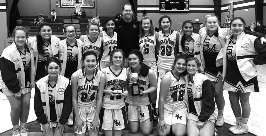The Susan Moore junior high girls defeated Locust Fork 35-21 to win the championship. -Blount County Schools   Facebook