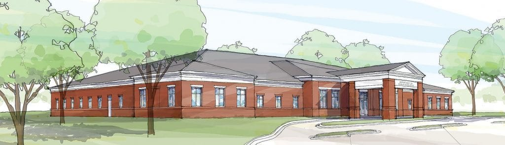 Architect's rendering of the new Blount County Department of Human Resources building being constructed on Lemley Drive. Completion is scheduled for October 2020. -Goodwyn, Mills & Cawood architects (Nov. 27, 2019)