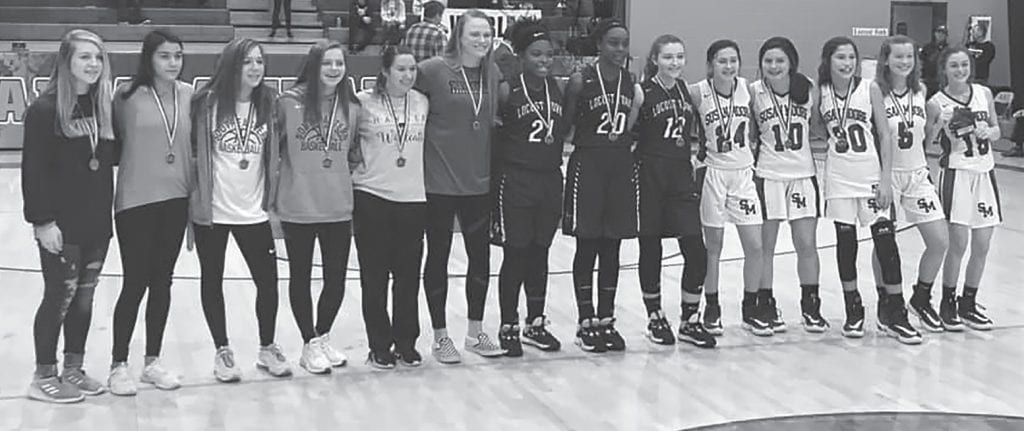 Susan Moore's Kirsten Ingram was named tournament MVP. Named to the junior girls all-tournament team during the 2019 Blount County Tournament were: Emma Thomas (Cleveland); Raegan Blackwood (J.B. Pennington); Montse Mena (Appalachian); Sydni Carpenter and Callie Sparkman (Southeastern); Crislyn Chappell and Kiley Tyler (Hayden); Dianna Boatright, Hope Evans, and Emma Adams (Locust Fork); Ava Brewer, Maycee Holland, Cesa Hernandez, and Kala Forsyth (Susan Moore). -Facebook   Blount County Schools
