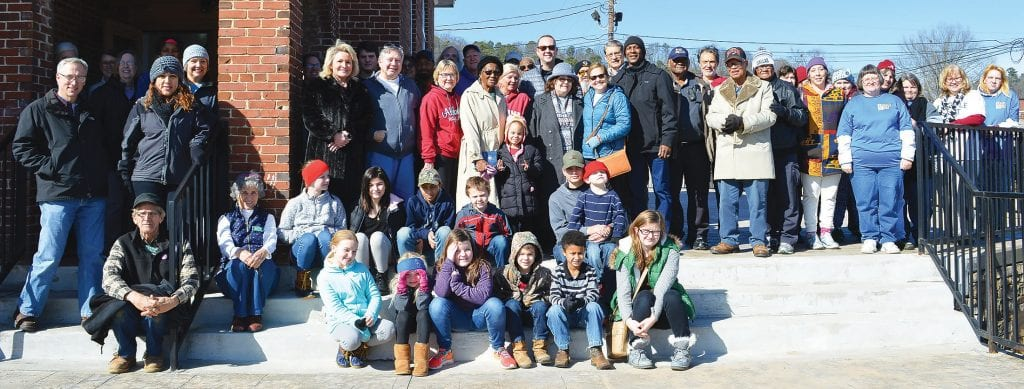 Participants pause for a photo during the 2019 Unity Celebration at The Little Brick Church.