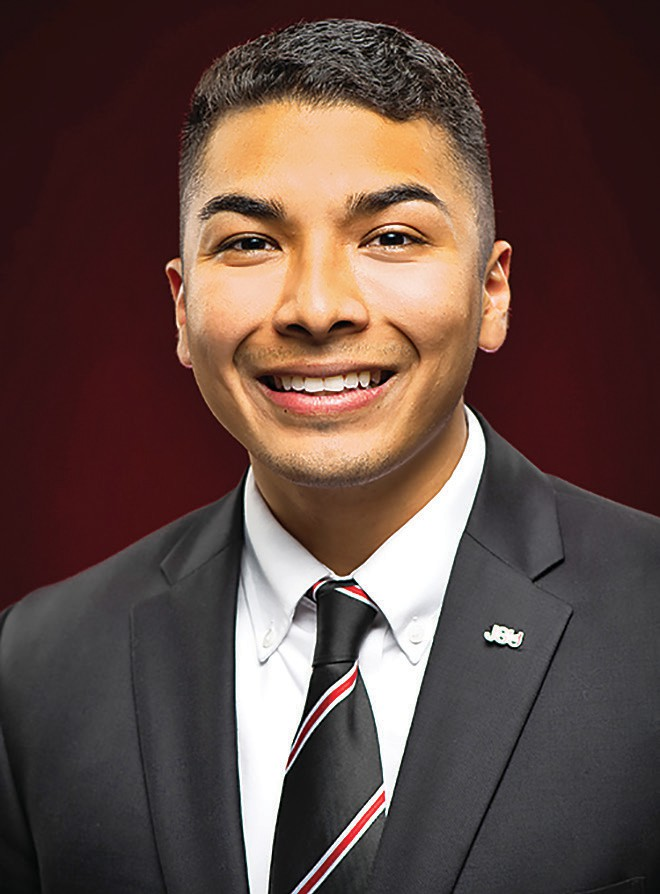 Ulisses Herrera is the first Hispanic SGA president at JSU. -Jacksonville State University