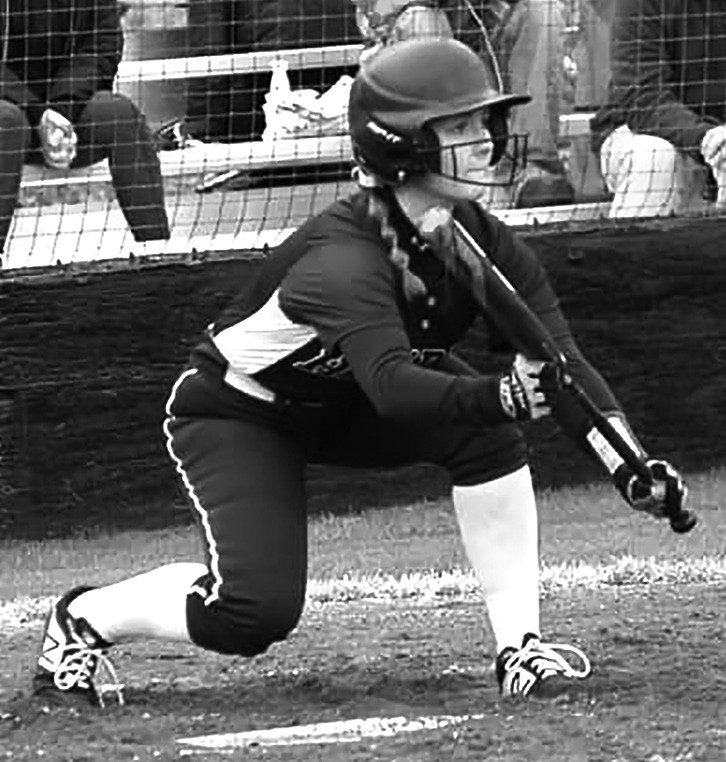 Olivia Armstrong lays down a bunt against Cullman. -Hayden Wildcat Softball | Facebook