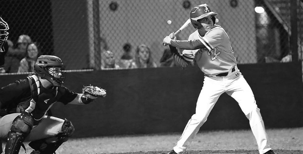 Appalachian's Brandon Atkinson prepares to swing. -Joel Sargent