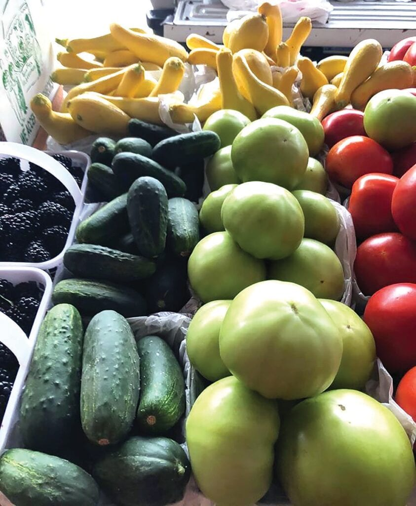 Local produce is available at the Blount County Farmers Market on Tuesdays, Thursdays, and Saturdays, beginning at 7 a.m. -Blount County Farmers Market | Facebook