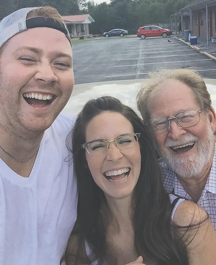 Stephen Gholson, Erica Gholson Waldman, and their dad, Ron. -Erica Gholson Waldman