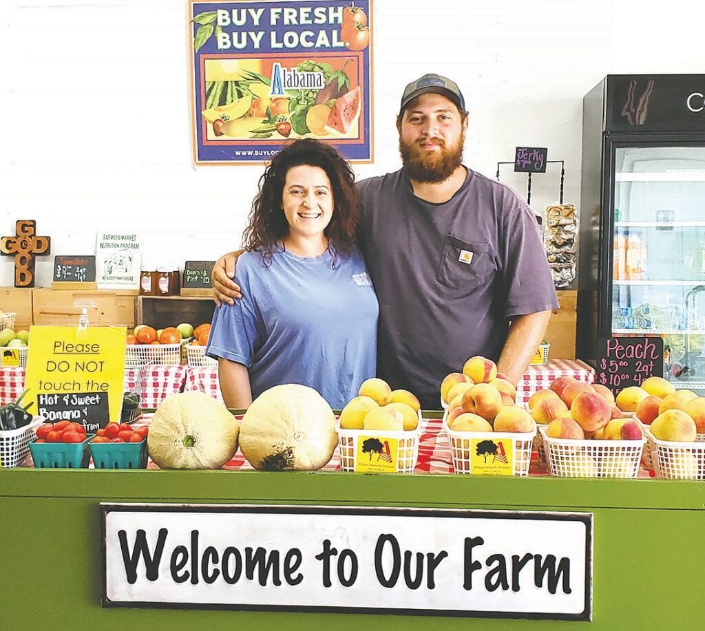 Destiny Allman Gladden and Chance Allman of Allman Farm and Orchard are fifth generation farmers.