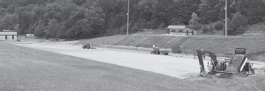 Gilbreath Stadium is a work in progress.