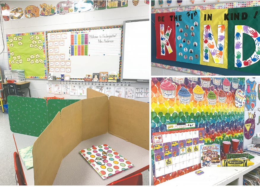 Beverly Anderson's kindergarten classroom at Oneonta Elementary School is ready for students. -Beverly Anderson