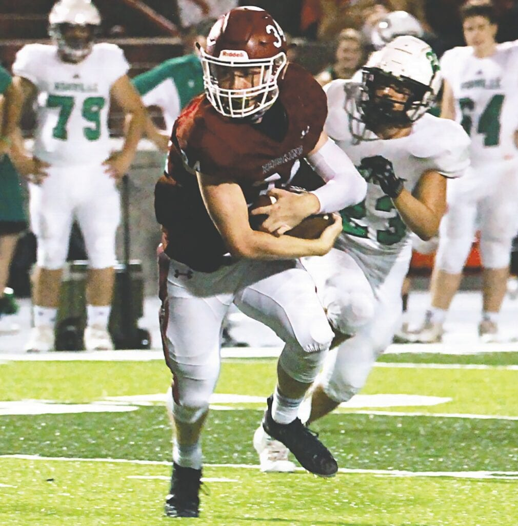 Collin Moon led the Oneonta offense with 159 yards on 16 carries. He scored one touchdown. -LInc Marcum