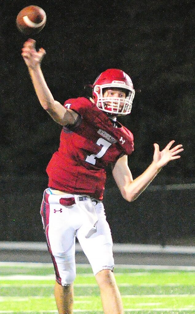 Connor Faust completed 18 passes for 207 yards and two touchdowns. -Keith Standridge