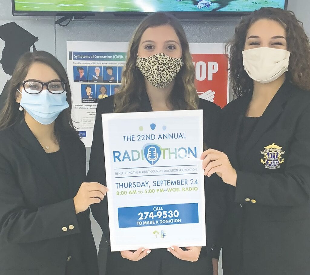 Appalachian ambassadors (from left) Nayelie Guzman, Ella Cleveland, and Audrey Fuller invite you to participate in the 22nd Annual Radiothon. -courtesy Mitchie Neel