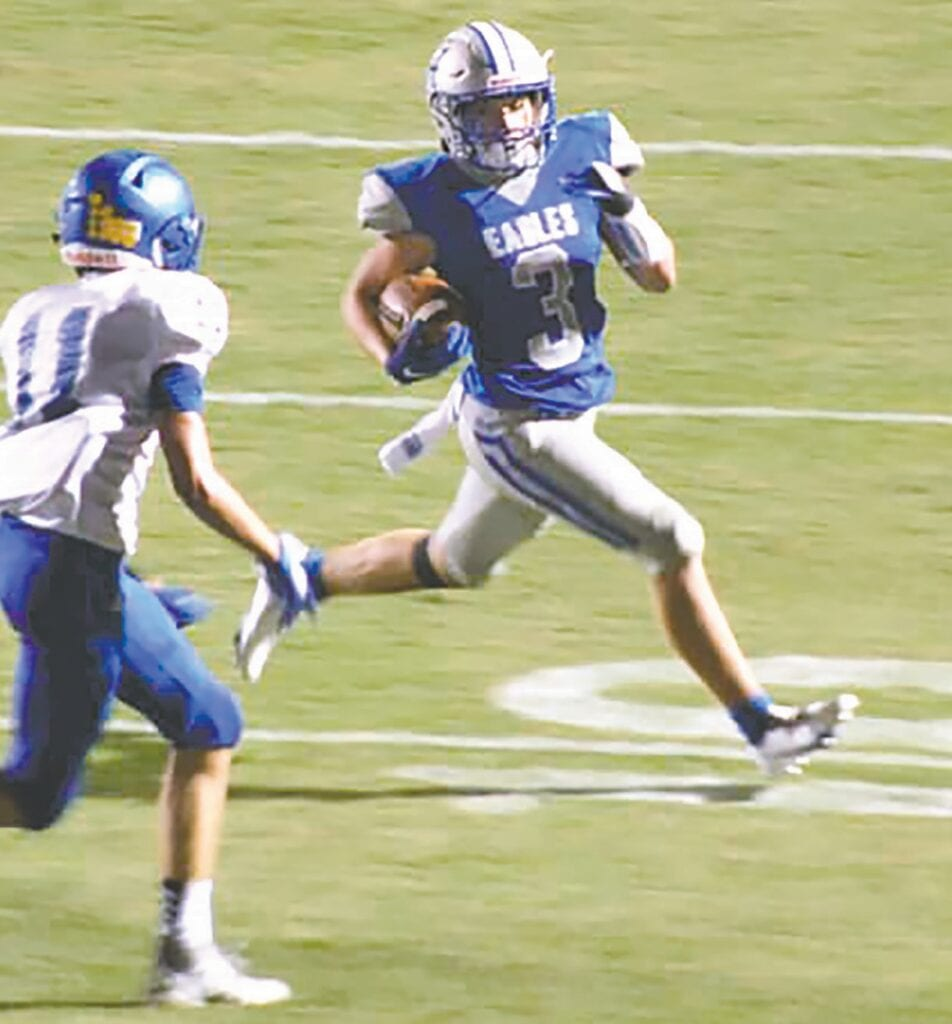 Bryson Seawright put up 200 total yards and two touchdowns. -Kelli Clark