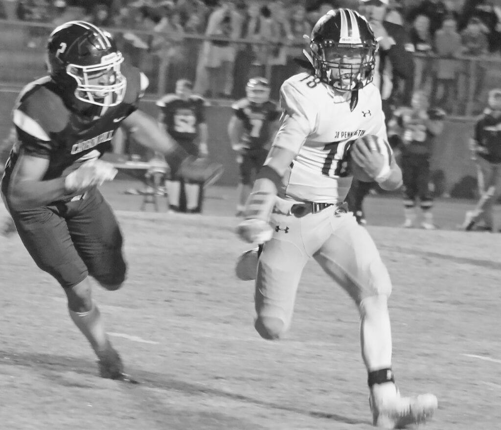 Austin Wiggins had 73 total yards against Carbon Hill. -Pennington Football