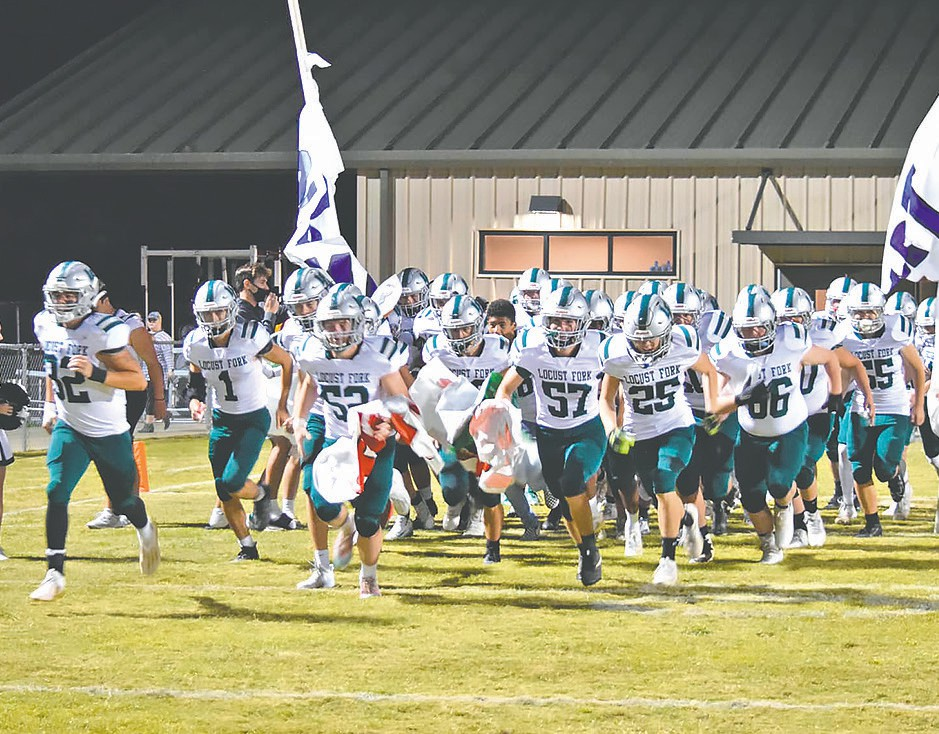 The Locust Fork Hornets take the field at Southeastern Thursday night. -Locust Fork Football