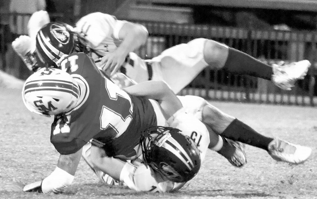 J.B. Pennington's defense was relentless against Susan Moore allowing the Bulldogs only 147 yards. -Pennington Football