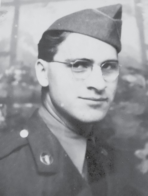 Bob Santini as a young soldier. (Swanson's family was unable to locate a photo.) -photo courtesy Bob Santini