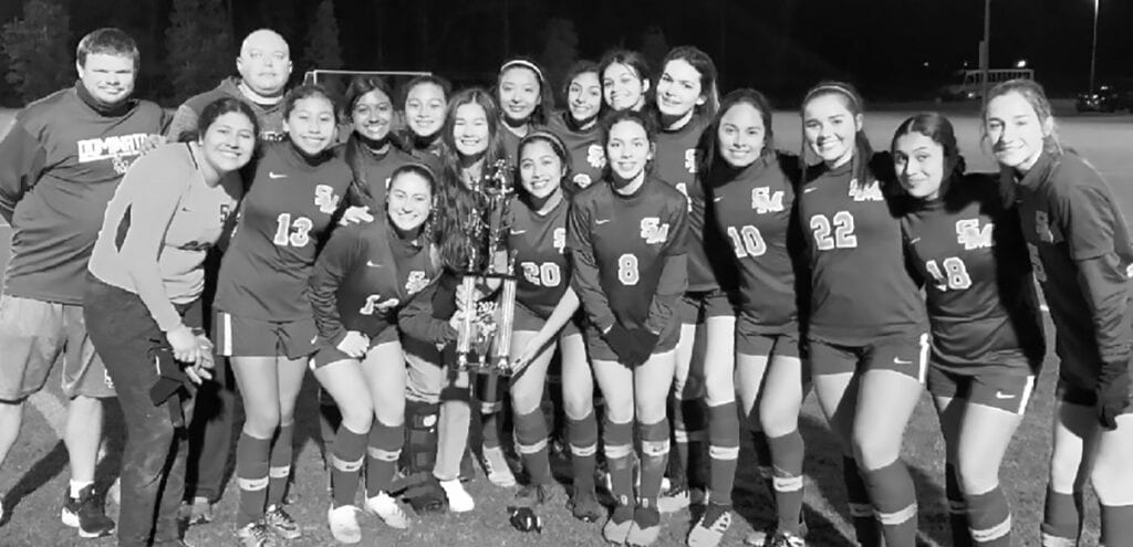 The Susan Moore Lady Bulldogs defeated three teams to earn the Lakeshore Shootout championship. -SMHS Soccer   Facebook
