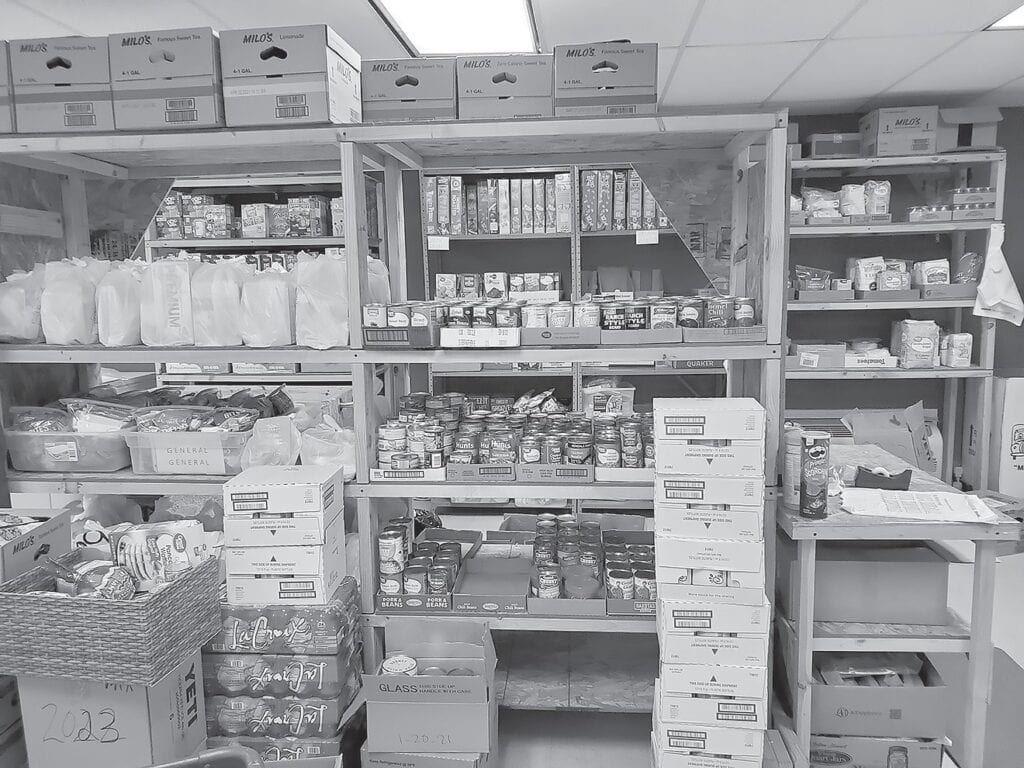 Shelves at the Hope House food pantry are well stocked thanks to generous donors. Food and monetary donations are always welcomed.