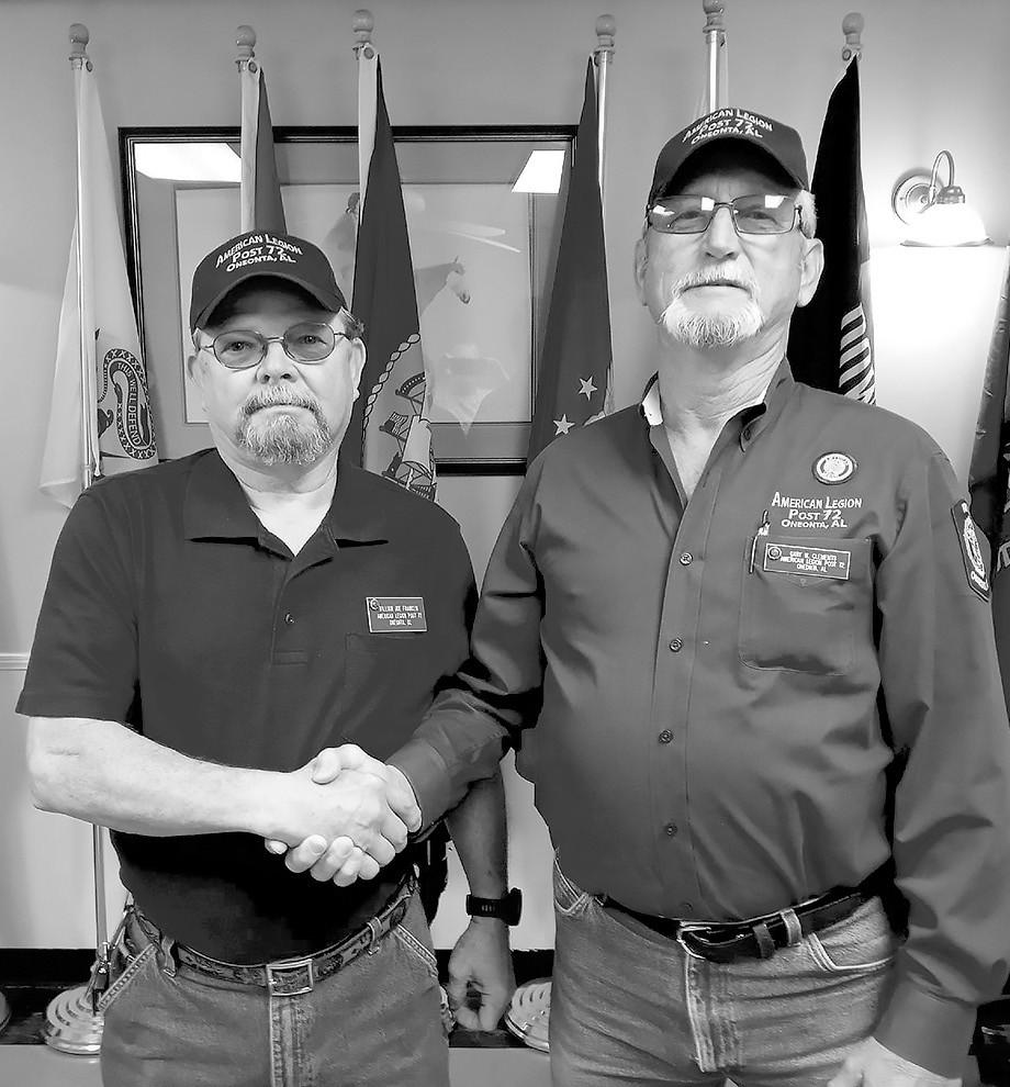 William Joe Franklin (left) and Gary Clements -photo courtesy Joe Franklin