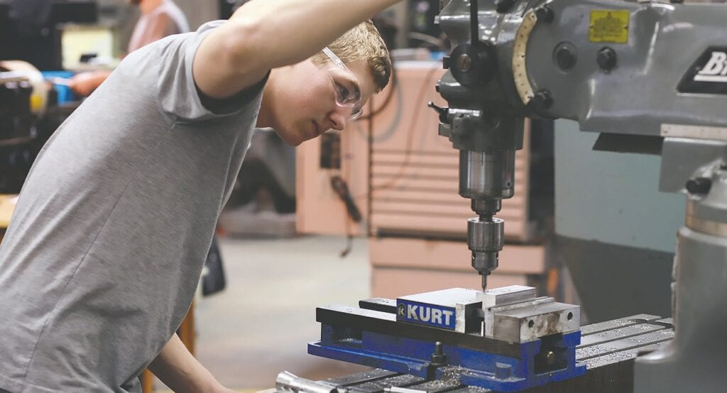 Machining equipment -photo courtesy Wallace State