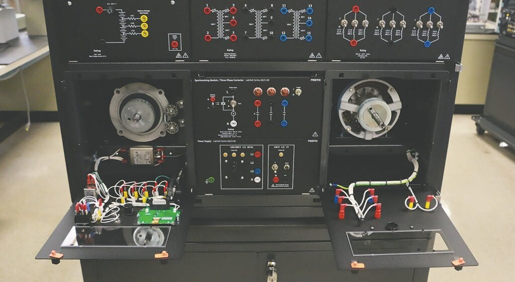 Mechatronics equipment -photo courtesy Wallace State