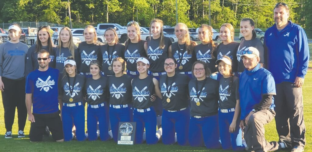 The Appalachian Lady Eagles are 1A Area 11 champions. They play Gaylesville today in the region tournament in Montgomery. -Cheryl Helton